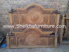 This is our solid rosewood bed. This bedroom set is made in pure rosewood (sheesham) made in chiniot, Pakistan. This bed is handmade and full of elegant style carving. This bed is carved by our experience craftsman. These products are a valuable symbol of antiques. This article can be customized on customer demand, for details you can contact us at info@sheikhsfurniture.com  or 0092 315 7434547. www.facebook.com/sheikhsfurniture