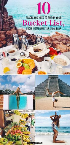 10 AMAZING TRAVEL DESTINATIONS TO PUT ON YOUR BUCKET LIST: Feeling some ~wanderlust~? Then you need to see this list of the best places to travel according to Instagram-famous Sjana Earp. These destinations and gorgeous places are sOoOo Instagram worthy and fun! Click through to see the complete list of picturesque destinations and what to do while you're there!
