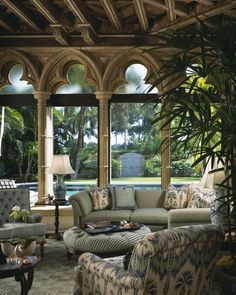 Alhambra windows in the conservatory! I Love this room!