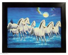 Paintings & Posters Framed Vaastu Seven Horse Painting  *Material* Wood & Plastic   *Size* (L x W) - 13.0 in x 10.2 in   *Description* It Has 1 Piece Of Frame With Painting (Glass Is Not Included)   *Work* Printed  *Sizes Available* Free Size *   Catalog Rating: ★3.9 (1844)  Catalog Name: Classy Spiritual Wall Paintings Vol 5 CatalogID_60678 C127-SC1611 Code: 032-546585-
