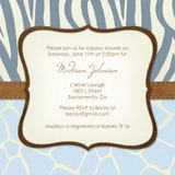 Boys Baby Shower Invitations - Wild One