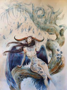 illustratrice dessinatrice bd auteure coloriste bd marine tumelaire fairy horn cornes - Coloriste Bd
