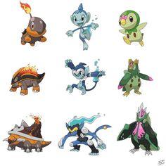 Type swapped gen 4! Starter Pokemon! : pokemon