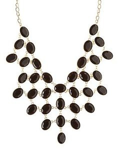 91b690488a5 Faceted Stone Statement Necklace Latest Jewellery