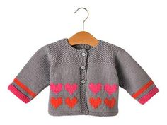 """(via CARDIGAN WITH HEARTS 3-18 MONTHS IRONS 3-3.5 """"The Jersey Marica)"""