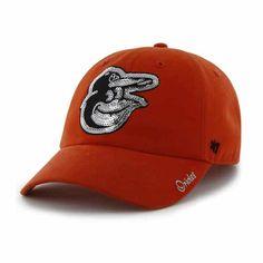 online retailer 3a100 959ed Baltimore Orioles Women s 47 Brand Sparkle Orange Clean Up Hat Baltimore  Orioles Hat, Detroit Game