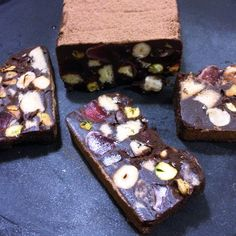 Satisfying My Chocolate Cravings. No Bake Dark Chocolate Hedgehog Slice With Hazelnut, Pistachio and Turkish Delight.