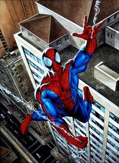 Spider-Man Art by Joe Jusko Amazing Spiderman, Spiderman Art, Marvel Comics Superheroes, Marvel Characters, Comic Books Art, Comic Art, Book Art, Spiderman Pictures, Marvel Masterworks