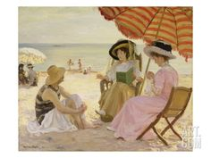 The Beach Giclee Print by Alfred Victor Fournier at Art.com