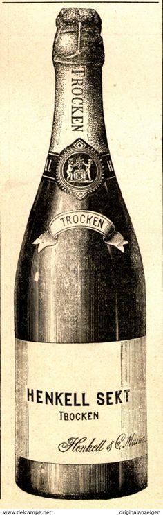 Original-Werbung/ Anzeige 1898 - HENKELL TROCKEN SEKT - ca. 45 x 140 mm