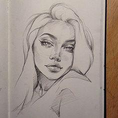 Art Sketches – Full of Beauties Girl Drawing Sketches, Cool Art Drawings, Pencil Art Drawings, Realistic Drawings, Drawing Tips, Tumblr Art Drawings, Tumblr Sketches, Face Sketch, Portrait Sketches