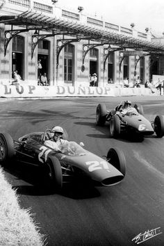 Monaco, Surtees in front of Hill, real bare knuckle driving!