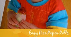 An easy rice paper roll recipe that is kid friendly to eat and make!