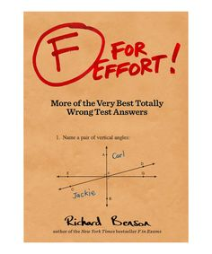 Chronicle Books F For Effort Paperback   zulily