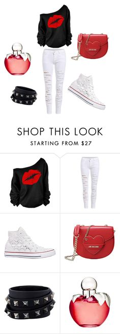 """""""Untitled #34"""" by zanna4 ❤ liked on Polyvore featuring Converse, Love Moschino, Valentino and Nina Ricci"""