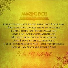 Psalm 119:165-168