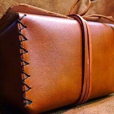 """Here's one of our favorite leather ditty boxes, they measure 3""""x3""""x6"""" Find them…"""