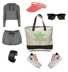 """""""Sporty"""" by winewomenandwhatnot on Polyvore featuring Topshop, NIKE, Sun N' Sand, adidas and Ray-Ban"""