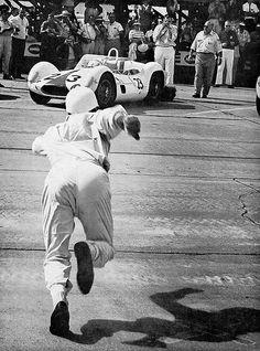 Le Mans style start at Sebring 1960. by Nigel Smuckatelli on Flickr