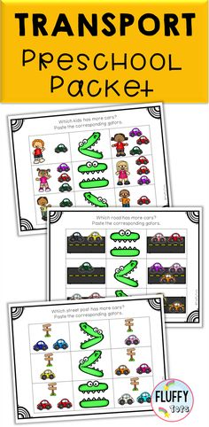 This NO PREP Transportation Theme Preschool Center pack is created especially for preschoolers in mind, age years old. This pack include loads of fun fine motor skills activities as well as introduction to numbers and alphabets. Preschool Activities At Home, Homeschool Preschool Curriculum, Preschool Schedule, Indoor Activities For Toddlers, Preschool Centers, Library Activities, Motor Skills Activities, Preschool Lesson Plans, Preschool Printables