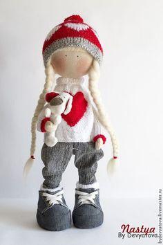 Handmade Doll Куклы тыквоголовки ручной работы: Настя. Авторская кукла.