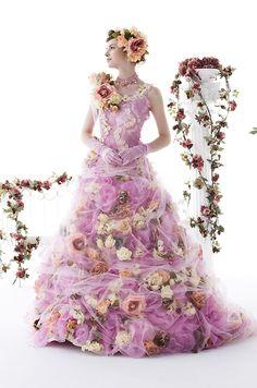 stella de libero, Stella de Libero, gown, couture, wedding, bridal, dress, fantasy, flowers, flower, floral, flora, fairytale, fashion, designer
