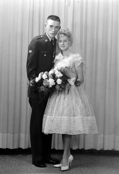 Vintage Brides — 1961 newlyweds Linda and Roy 1960s Wedding, Vintage Wedding Photos, Vintage Bridal, Wedding Pics, Wedding Bride, Wedding Styles, Wedding Day, Vintage Weddings, Bride Groom