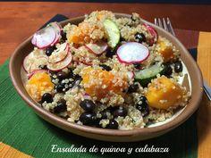 Ensalada de quinoa y calabaza / Quinoa and Butternut Squash Salad