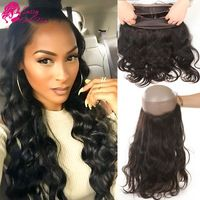 Body Wave Natural Hair 360 Lace Virgin Hair With Baby Hair 360 Lace Frontal  Closure Human 204fc32d8