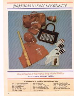 1982 Phillies Baseball items.  What is your favorite? Maybe the chocolate Phillie Phanatic? Phillies Baseball, Tube Socks, Reusable Tote Bags, Chocolate, Sports, Hs Sports, Socks, Chocolates, Sport