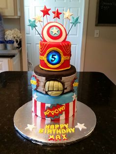 Superhero Cake made for a very special little boy.