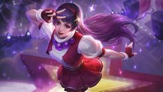 This HD wallpaper is about Mobile Legends, Guinevere, Athena Asamiya, Original wallpaper dimensions is file size is Carmilla, Bang Bang, Snk King Of Fighters, Alucard Mobile Legends, Moba Legends, Mobile Legend Wallpaper, The Legend Of Heroes, Wallpaper Downloads, Hd Wallpaper