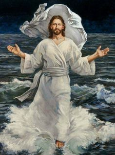 Jesus Christ walks on  Water! Amen! † ❤