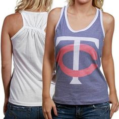 Touch by Alyssa Milano Minnesota Twins Blue-White Sublimated Burnout Tank Top