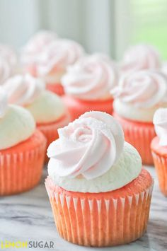Strawberry Cupcakes with Ice Cream Buttercream!