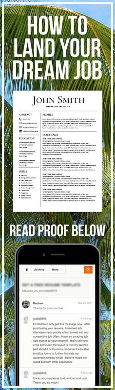 Resume Template - Resume Builder - CV Template + Cover Letter - MS
