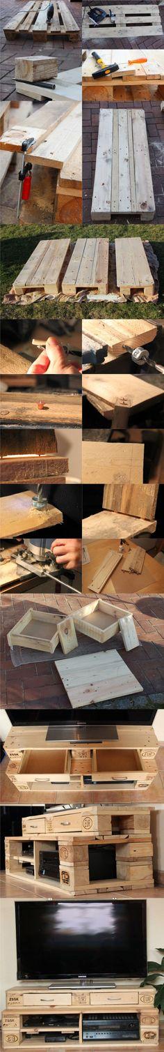 mueble tv DIY muy ingenioso 2