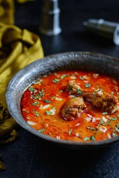 Mughlai Zaafrani Murgh is a rich Chicken curry cooked with cashewnut paste and spices and flavored with saffron. Here is a traditional recipe to make it.