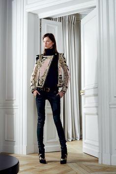 Balmain - Pre Fall. Asymmetrical Statement Jacket.