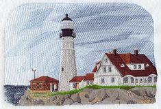 Portland Head Lighthouse design (H2158) from www.Emblibrary.com