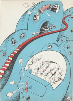 1950s Dr Seuss Vintage print Whoville from Horton Hears a Who, $5.00