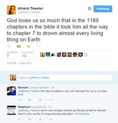 I loves me some Atheist Tweeter....