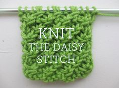 Learn to Knit the Daisy Stitch: Knitting Techniques on Craftsy!