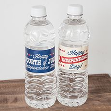 Make your water for your 4th of July a little more festive this year!