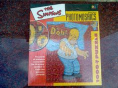 The Simpsons Photo Mosaic Puzzle Homer Sealed Unopened 2002 Bart Fox