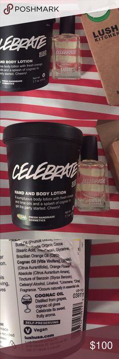 Lush Celebrate perfume & Body lotion NWT Lush Kitchen Celebrate perfume 30ml and body lotion 7.7 oz most recent batch new Unused Lush Other