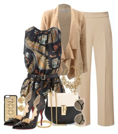 A fashion look from July 2015 featuring blazer jacket and wide-leg pants. Browse and shop related looks. Classy Outfits, Pretty Outfits, Chic Outfits, Beautiful Outfits, Fashion Outfits, Womens Fashion, Work Fashion, Fashion Looks, Work Chic
