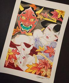 Japanese Tattoo Designs, Japanese Design, Japanese Geisha, Japanese Art, Anime Sensual, Blue Bloods, Japanese Painting, Irezumi, Hanuman