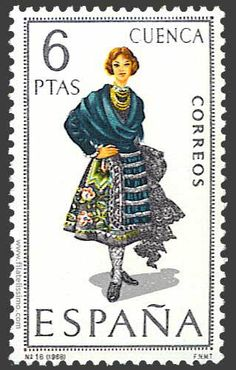 Picture of SPAIN - CIRCA stamp printed by Spain, shows woman Regional Costumes, circa stock photo, images and stock photography. Postage Stamp Design, Stamp Printing, Cultural Identity, Regional, Vintage Stamps, Old Paper, Stamp Collecting, Retro, Spain