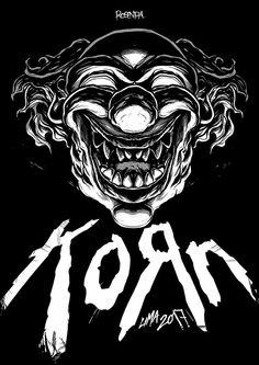 Rock Posters, Concert Posters, Korn, Rock And Roll Songs, Badass Drawings, Nu Metal, Send In The Clowns, Music Artwork, Heavy Metal Bands